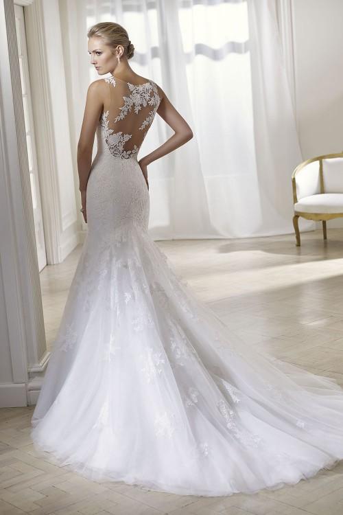 robe de mariée sirène au dos transparent SENSUELLE