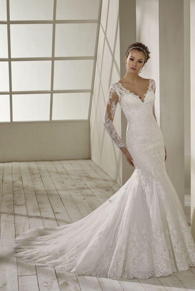 robe de mariée sirène manches longues - PENSEE