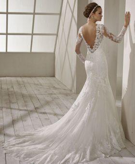 robe de mariée sirène manches longues - SASKIA
