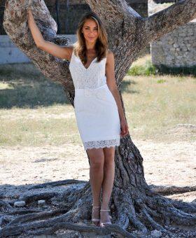 ANNA - robe de mariée courte en dentelle
