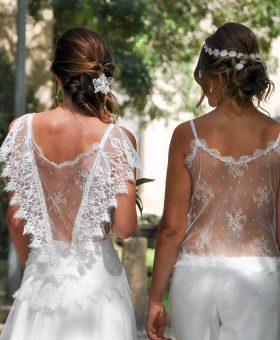 robes de mariée COCO et PRALINE - dos sublimes