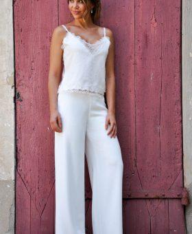 robe de mariée pantalon