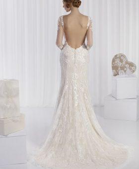 robe de mariée sirène manches longues - RUBINA