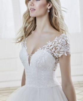 CLOE robe de mariée romantique avec manches