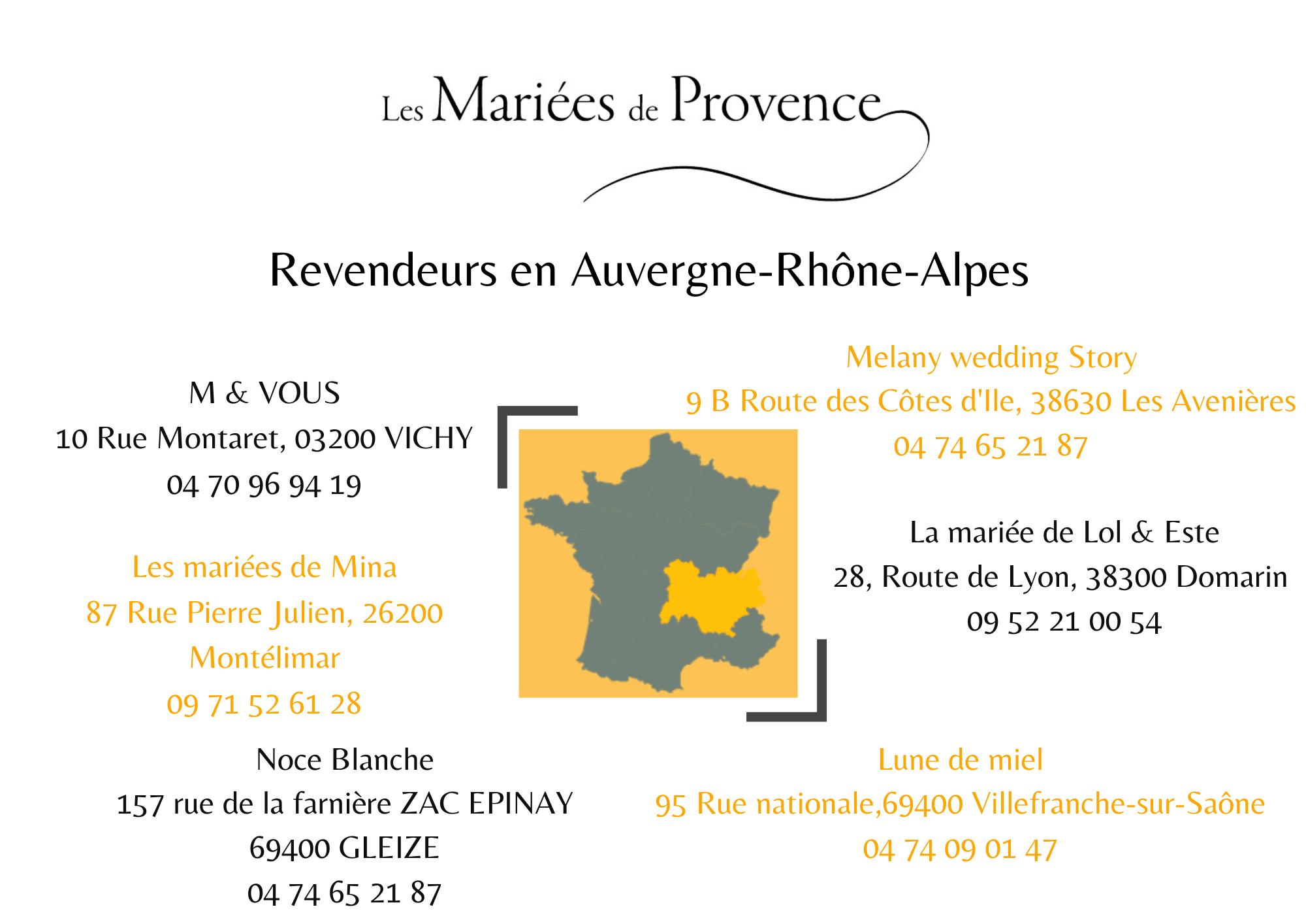 La collection Mariées de Provence en Auvergne-Rhône-Alpes