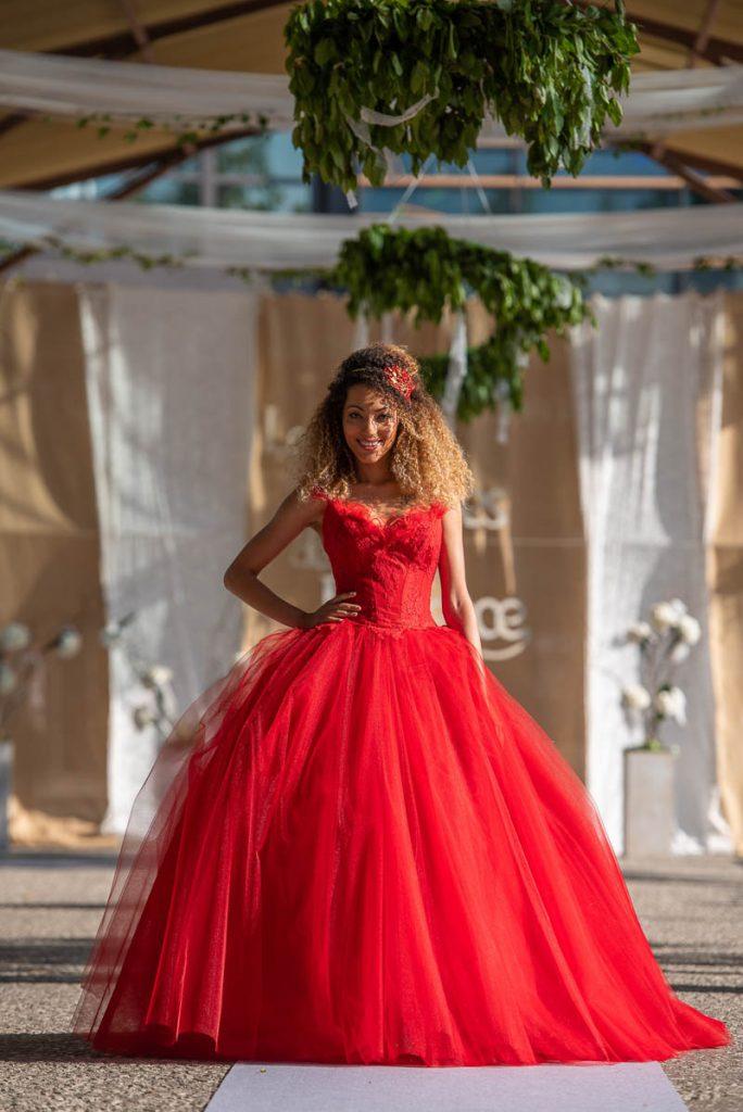 GARANCE robe de mariée rouge