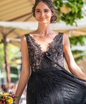 REGLISSE robe de mariée noire en dentelle