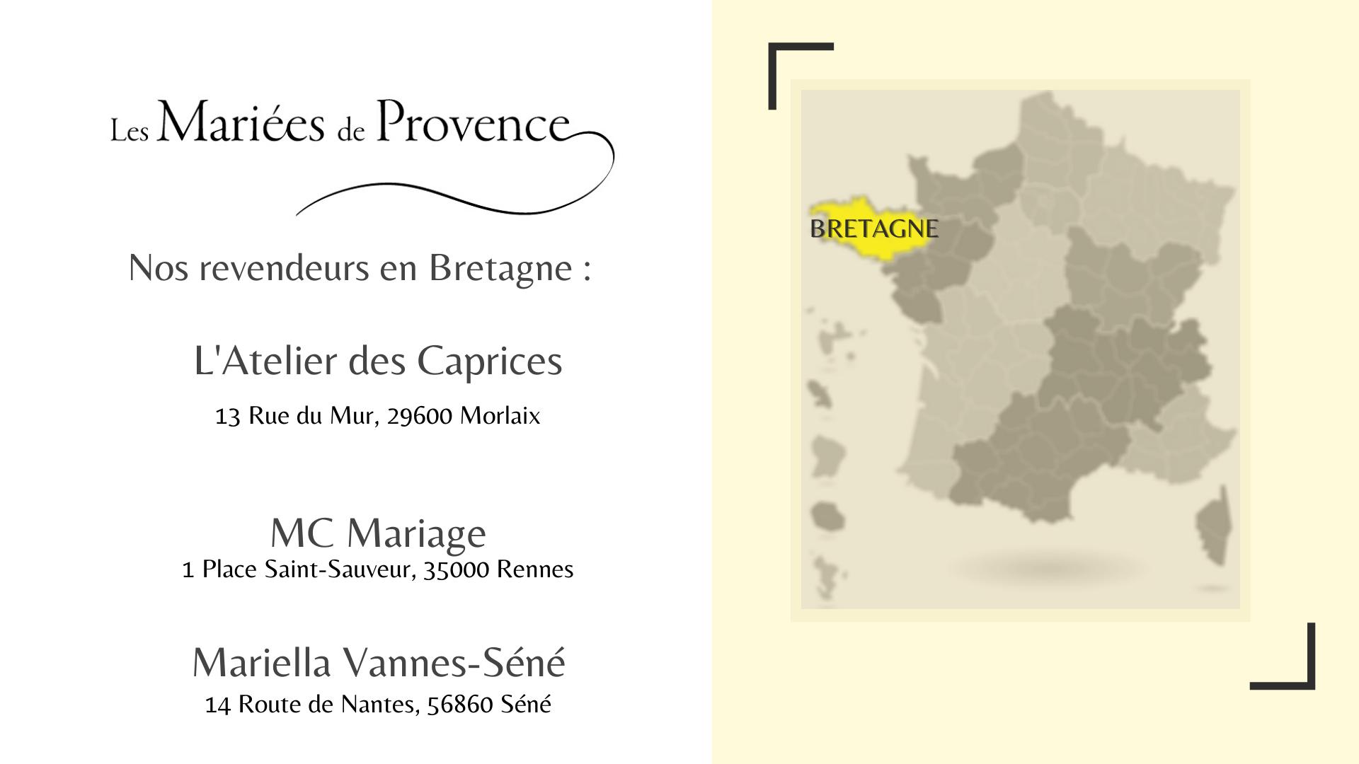 La collection Mariées de Provence en Bretagne