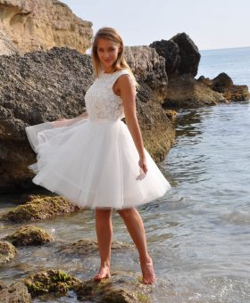 robe de mariée courte en tulle SABRINA