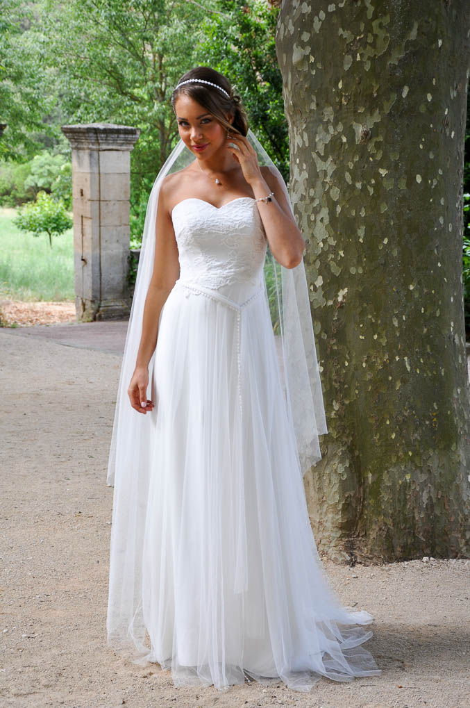 SUCRERIE robe de mariée bohème simple en tulle mousseline