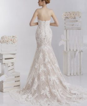 robe de mariée sirène longue traine - SASKIA